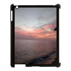 Red Sunset Rincon Puerto Rico Apple Ipad 3/4 Case (black) by StarvingArtisan