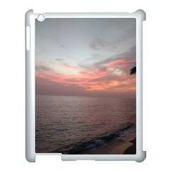 Red Sunset Rincon Puerto Rico Apple Ipad 3/4 Case (white) by StarvingArtisan