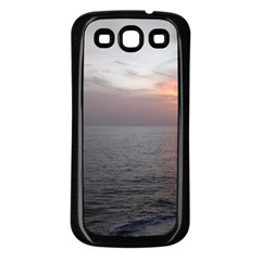 Sunset Samsung Galaxy S3 Back Case (black) by StarvingArtisan