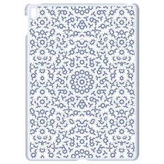 Radial Mandala Ornate Pattern Apple Ipad Pro 9 7   White Seamless Case by dflcprints