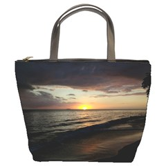 Sunset On Rincon Puerto Rico Bucket Bags by StarvingArtisan