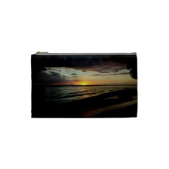 Sunset On Rincon Puerto Rico Cosmetic Bag (small)  by StarvingArtisan