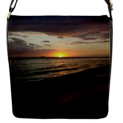 Sunset On Rincon Puerto Rico Flap Messenger Bag (s)