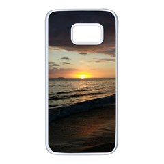Sunset On Rincon Puerto Rico Samsung Galaxy S7 White Seamless Case by StarvingArtisan