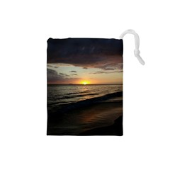 Sunset On Rincon Puerto Rico Drawstring Pouches (small)  by StarvingArtisan