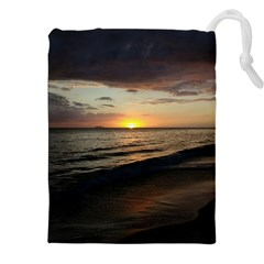 Sunset On Rincon Puerto Rico Drawstring Pouches (xxl) by StarvingArtisan