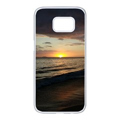 Sunset On Rincon Puerto Rico Samsung Galaxy S7 Edge White Seamless Case by StarvingArtisan