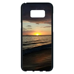 Sunset On Rincon Puerto Rico Samsung Galaxy S8 Plus Black Seamless Case