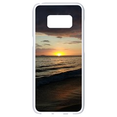 Sunset On Rincon Puerto Rico Samsung Galaxy S8 White Seamless Case by StarvingArtisan