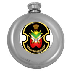 Shield Of The Imperial Iranian Ground Force Round Hip Flask (5 Oz) by abbeyz71