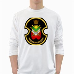Shield Of The Imperial Iranian Ground Force White Long Sleeve T Shirts