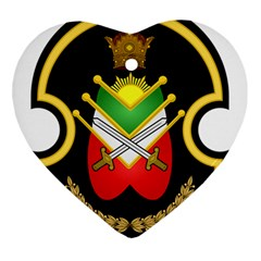 Shield Of The Imperial Iranian Ground Force Ornament (heart) by abbeyz71