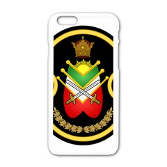 Shield Of The Imperial Iranian Ground Force Apple Iphone 6/6s White Enamel Case by abbeyz71