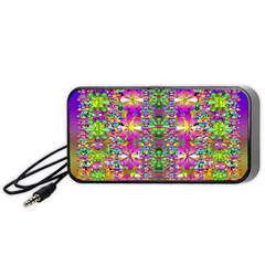 Flower Wall With Wonderful Colors And Bloom Portable Speaker by pepitasart