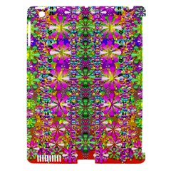 Flower Wall With Wonderful Colors And Bloom Apple Ipad 3/4 Hardshell Case (compatible With Smart Cover) by pepitasart