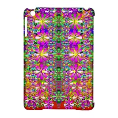 Flower Wall With Wonderful Colors And Bloom Apple Ipad Mini Hardshell Case (compatible With Smart Cover) by pepitasart