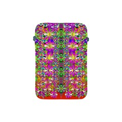 Flower Wall With Wonderful Colors And Bloom Apple Ipad Mini Protective Soft Cases by pepitasart