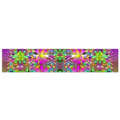 Flower Wall With Wonderful Colors And Bloom Small Flano Scarf by pepitasart
