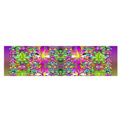 Flower Wall With Wonderful Colors And Bloom Satin Scarf (oblong) by pepitasart