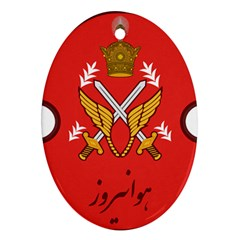 Seal Of The Imperial Iranian Army Aviation  Oval Ornament (two Sides) by abbeyz71
