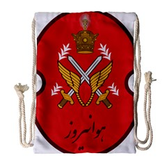 Seal Of The Imperial Iranian Army Aviation  Drawstring Bag (large) by abbeyz71