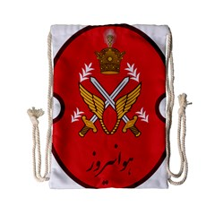 Seal Of The Imperial Iranian Army Aviation  Drawstring Bag (small) by abbeyz71