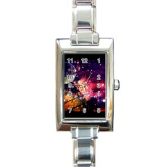Letter From Outer Space Rectangle Italian Charm Watch by augustinet