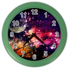 Letter From Outer Space Color Wall Clocks by augustinet