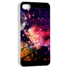 Letter From Outer Space Apple Iphone 4/4s Seamless Case (white) by augustinet