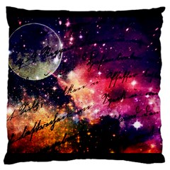 Letter From Outer Space Large Cushion Case (two Sides)