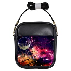 Letter From Outer Space Girls Sling Bags by augustinet