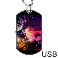 Letter From Outer Space Dog Tag Usb Flash (one Side) by augustinet
