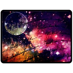 Letter From Outer Space Double Sided Fleece Blanket (large)  by augustinet
