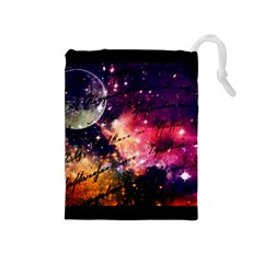 Letter From Outer Space Drawstring Pouches (medium)  by augustinet