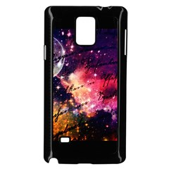 Letter From Outer Space Samsung Galaxy Note 4 Case (black) by augustinet