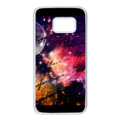 Letter From Outer Space Samsung Galaxy S7 White Seamless Case by augustinet