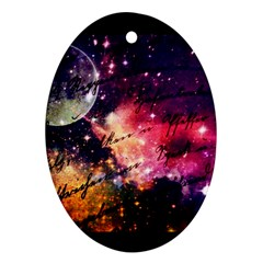 Letter From Outer Space Ornament (oval) by augustinet