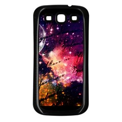 Letter From Outer Space Samsung Galaxy S3 Back Case (black) by augustinet