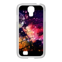 Letter From Outer Space Samsung Galaxy S4 I9500/ I9505 Case (white) by augustinet