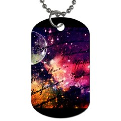Letter From Outer Space Dog Tag (one Side) by augustinet