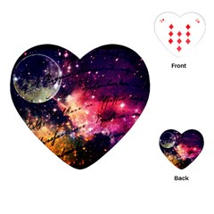 Letter From Outer Space Playing Cards (heart)  by augustinet