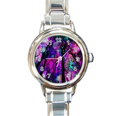 Magic Forest Round Italian Charm Watch by augustinet