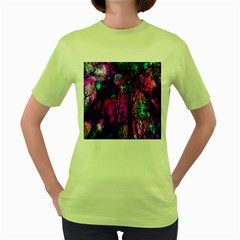Magic Forest Women s Green T Shirt by augustinet