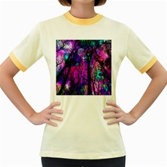 Magic Forest Women s Fitted Ringer T Shirts by augustinet