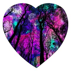 Magic Forest Jigsaw Puzzle (heart) by augustinet