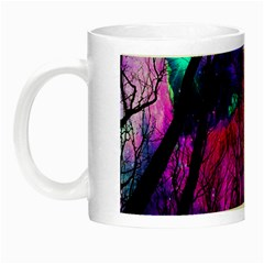 Magic Forest Night Luminous Mugs by augustinet
