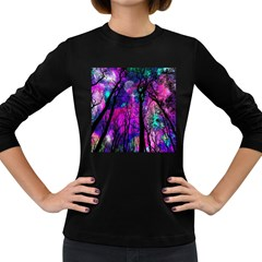 Magic Forest Women s Long Sleeve Dark T Shirts by augustinet