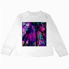 Magic Forest Kids Long Sleeve T Shirts by augustinet