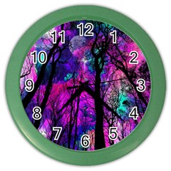 Magic Forest Color Wall Clocks by augustinet