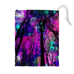 Magic Forest Drawstring Pouches (extra Large) by augustinet